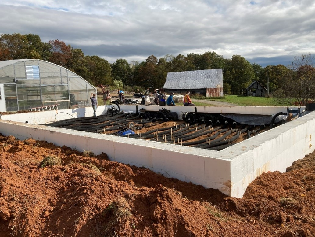 Ceres greenhouse's foundation