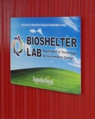 bioshelter lab sign