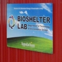 bioshelter lab sign