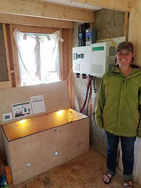 Photovoltaics 2 Class Spring 2019 applied their knowledge by designing and installing an off-grid solar electric system for a real world client, Sarah Kellogg.