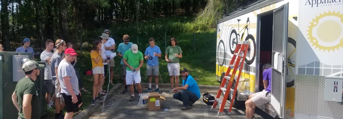 Solar Bike Trailer at Appstate