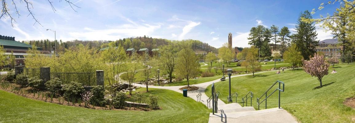 Durham Park on Appalachian State University's campus