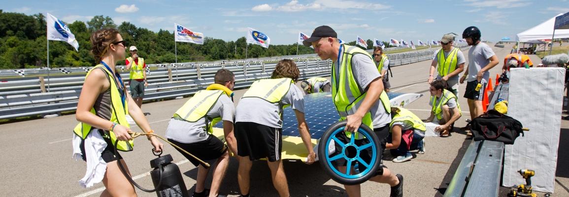 Solar Vehicle Team on race day