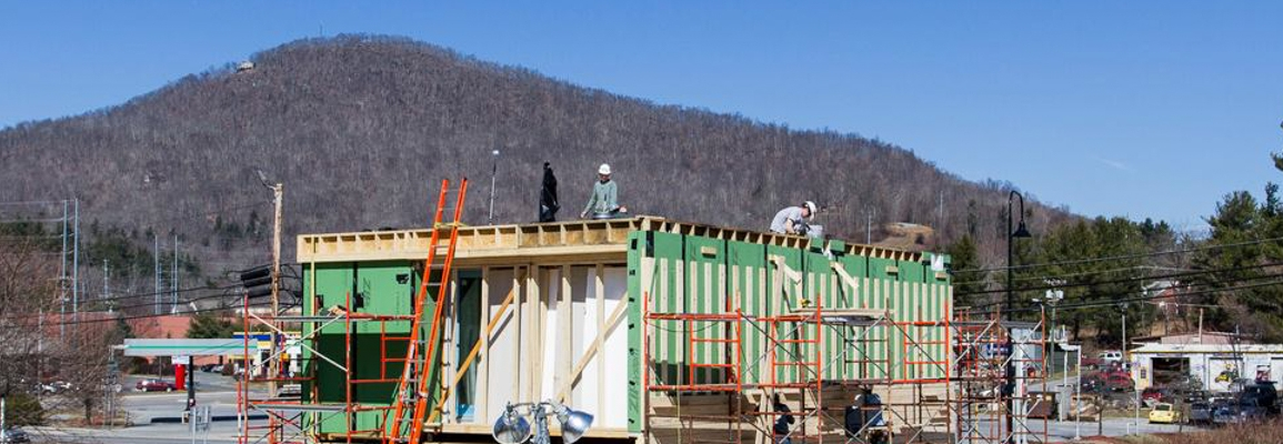 Solar Decathlon house under construction