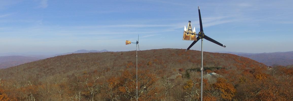 wind turbines on Beech Mountain
