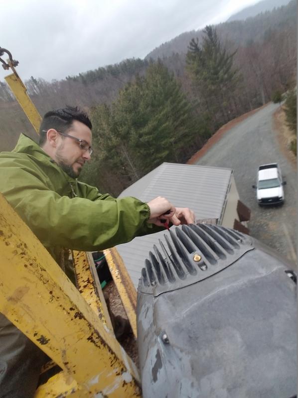 Chris Stevens, Technology Grad Student Repairing Turbine