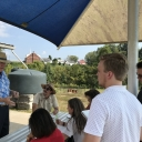 Students meeting with David Horn, Chief Volunteer Officer at Unity Park and Community Gardens